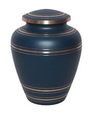 Large/Adult 200 Cubic Inches Wedgewood Blue Brass Funeral Cremation Urn