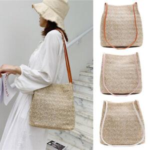 Women Fashion Handbag Straw Rattan Bag Wicker Straw Woven Bag Totes Beach Bags