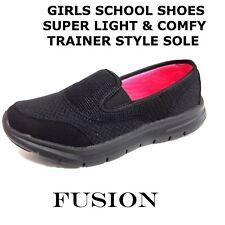 GIRLS SCHOOL SHOES,BLACK,UNIFORM, SUPER LIGHT & COMFORT,GO WALK,COLLEGE,WORK,