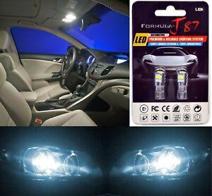 LED 3030 Light White 6000K 194 Two Bulbs Front Side Marker Parking Stock JDM