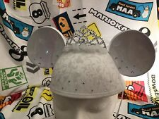 DISNEY MINNIE & MICKEY MOUSE BRIDE ADULT WEDDING DRESS LACE EAR HAT WHITE