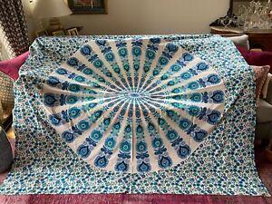 2 Indian Cotton Mandalas Pink / Blue
