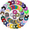 65Pcs Elastic HairBands Satin Bobbles Ties Scrunchies Ropes Soft Velvet Chiffon