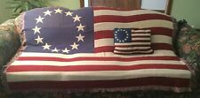 Goodwin Weavers American Flag Afghan and Matching Pillow