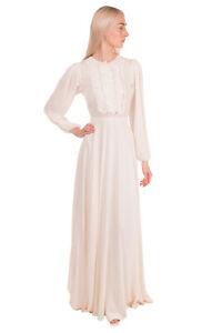 RRP €4565 GIAMBATTISTA VALLI Silk Empire Line Dress Size 40 / XS Made in Italy