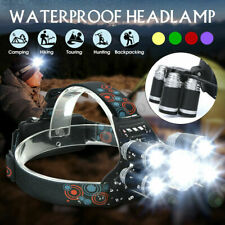 Stirnlampe 300LM 150m IPX4 5x T6 Cree LED Taschenlampe Camping Outdoor Angeln