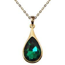 Navachi Drop Emerald Green Zircon Crystal Necklace Pendant BH6303