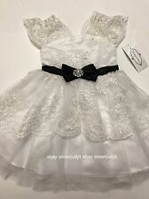 Rare editions Flower Girl white laces special occasion formal Dress 4T Wedding