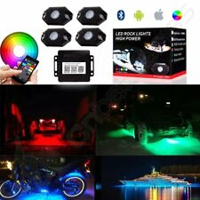 4PCS For Jeep SUV Off-road Vehicles RGB LED Rock Light Multi-Function Bluetooth