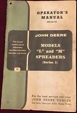 vintage john deere operators manual booklet models l & m spreaders