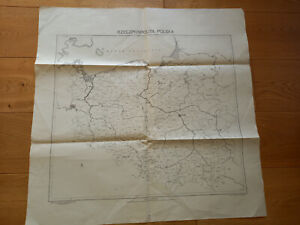 First Post II World War map of Poland, April 1945