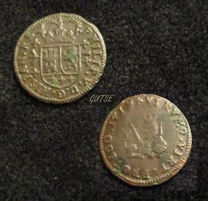 SPAIN, 30-FELIPE V, 1 MARAVEDI 1719, VALENCIA, XC 2021, VERY DIFFICULT.