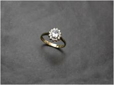 Aquamarine & Diamond Ring size I 9ct gold Beautiful Quality B/ham HM