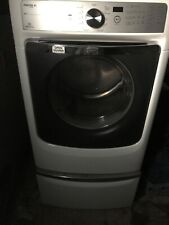 Maytag Mct Maxima Xl Gas Dryer, White with pedestal - gently used