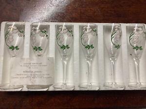 Lot De 6 Flutes A Champagne Perrier-Jouet