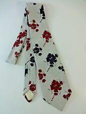 VTG 100% Polyester Vesuvio Red & Black Paisley Flower Men's Wide Neck Tie 1970s