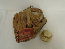 Vintage Autographed Macgregor Leather Baseball Glove and Rawlings Ball