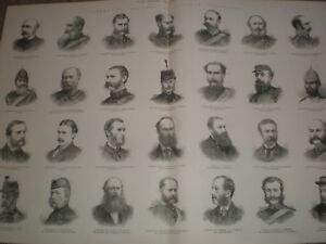 Scottish Volunteers Commanding Officers 1881 print ref AV