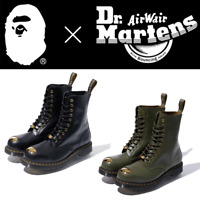 A BATHING APE Men's Footwear x Dr.Martens ABC 10 HOLE STEEL TOE CAP SHOES New