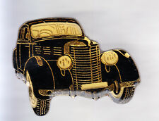 RARE PINS PIN'S .. AUTO CAR ANCIENNE OLD 1950 AMERICAINE USA  BERLINE NOIRE ~CQ
