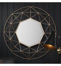 Wall-mounted Metal Frame Round Decorative Mirrors