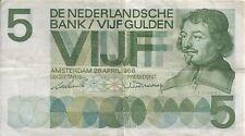 NEDERLAND:bankbiljet 5 gulden 1966 VONDEL  ZF