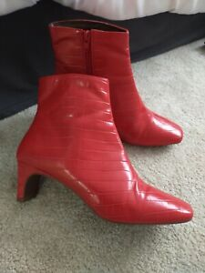 NEXT FOREVER COMFORT, RED CROC AFFECT ANKLE BOOTS UK 6 (39)