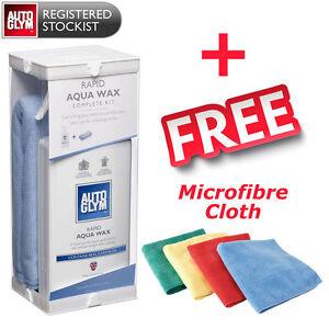 Rapid Autoglym Aqua Wax Kit 500ml with 3 Genuine Autoglym Microfibre Cloths!