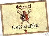 Etiquette de vin - COTES DU RHONE - Grégoire XI  (180)