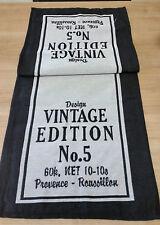 Tischläufer / Vintage / Stoff / Tischdecke Tischdeko Dekoration schwarz shabby
