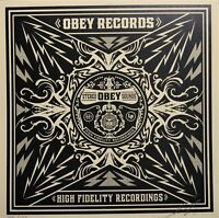 SHEPARD FAIREY hand signed RECORD Party At Moontower ed/150 2011 obey giant