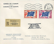 "CE12 Registered FDC Council Europe ""European Space Research Programme"" 09-1960"