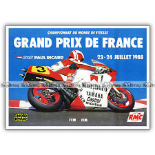 PUB GP GRAND PRIX DE FRANCE CIRCUIT PAUL RICARD Ad / Publicité COURSE MOTO 1988