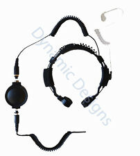 Heavy Duty Throat Microphone for Olympia P324 Two Way Radio 1 YEAR WARRANTY