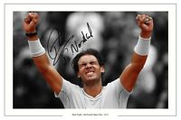 RAFA NADAL HISTORIC 8TH FRENCH OPEN TENNIS SIGNED AUTOGRAPH PHOTO PRINT