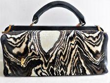 Roberta di Camerino Velvet&Leather Top Handle bagonghi bag