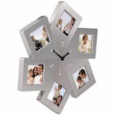 HAMA Designer Metall Fotouhr Wand Uhr Foto Bilderuhr Wanduhr mit Bilderrahmen !