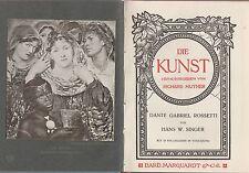 Dante Gabriel Rossetti (de H. W. Singer) avec 13 IMAGES (de 1912)