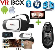 3D Virtual Reality VR Box 2.0 Glasses Smart Phone Universal Headset + Remote