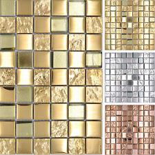 Glasmosaik Mosaikfliesen Bronze Silber Gold Küchenrückwand Wandverblender