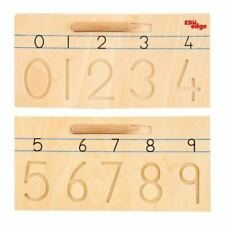 Montessori Wooden Numbers / Numerals Tracing Boards - Pre-Writing Skills