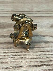 dollhouse miniatures - nautical sextant 1:12 brass