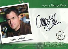 CSI Series 2 George Eads as Nick Stokes A23 Auto Card