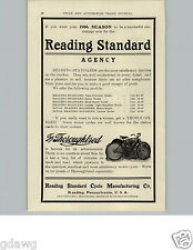 1905 PAPER AD RS Reading Standard The Thoughbred Motorcycle Motor Cycle 6 Models