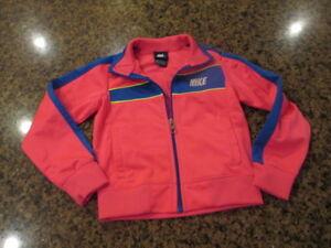 NIKE 5 youth Girls Track athletic Jacket Full Zip up pink sports sweat warm up