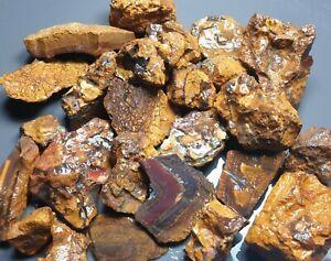 Boulder Opal Rough Parcel Yowah Matrix Solid Natural Lapidary Specimen 370 Grams
