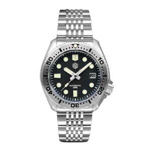 SAN MARTIN Mens Diver Watches,Men Automatic Watch 200M Waterproof Luminous NH35