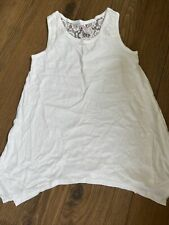Justice White Swing Tank Top With Lace 10