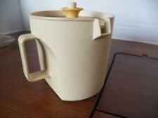 Vintage Tupperware Creamer with Push Top 1414-4 Almond Off-white FREE SHIP