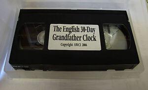 The English 30-Day Grandfather Clock Repair Video - AWCI (VHS) (C-371)